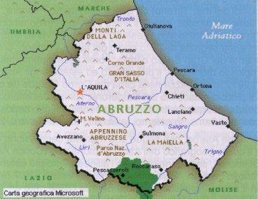 Cartina Geografica Roccaraso.Abruzzo